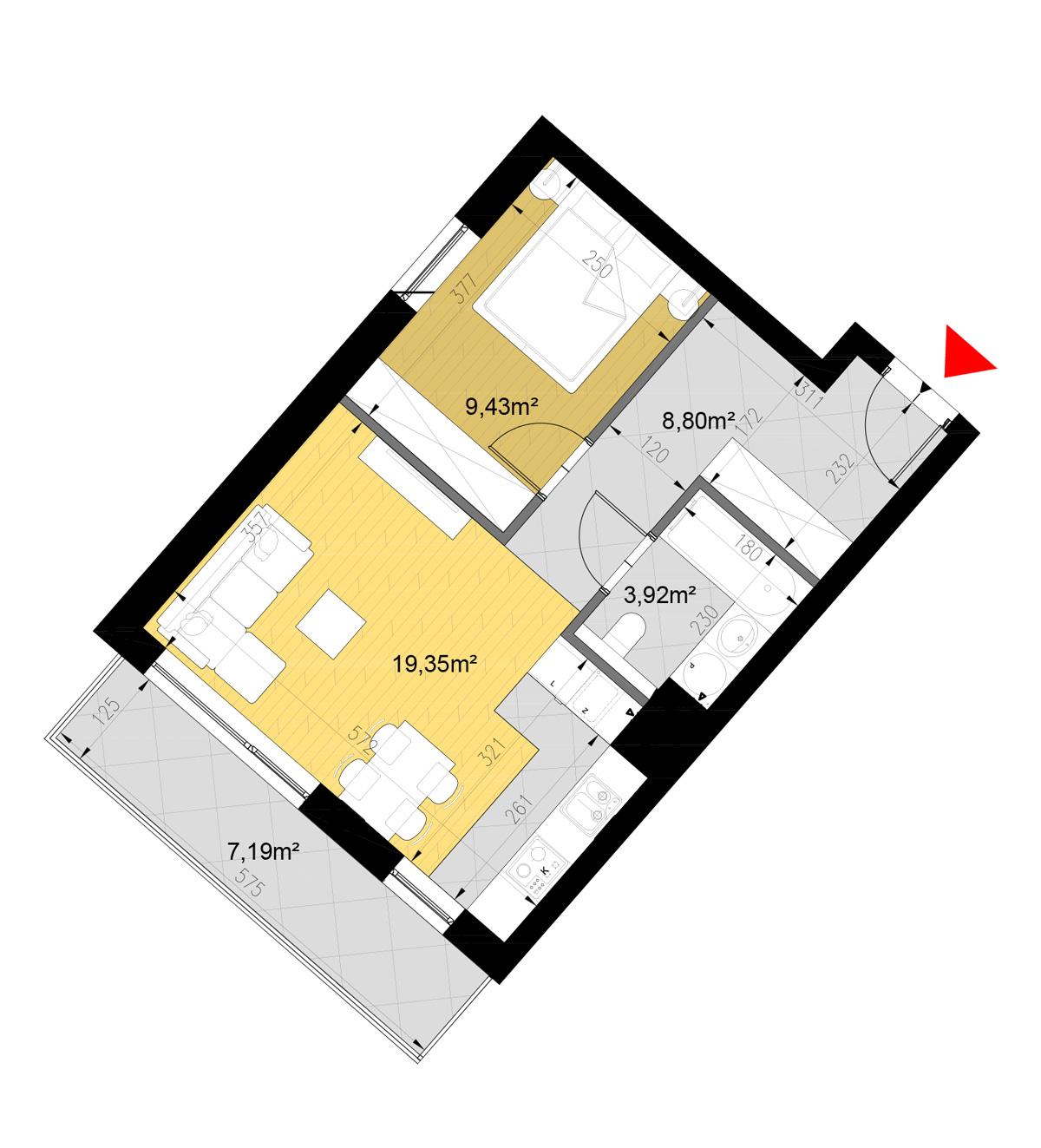 Zielone Tarasy - Blok D - Mieszkanie nr 43 - Wysokie Mazowieckie - Master - Emil Borys